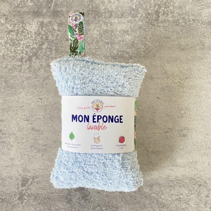 Eponge lavable et réutilisable – Bleue