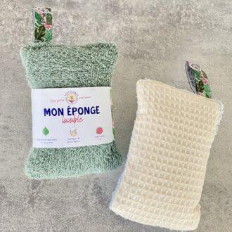Eponge lavable et réutilisable – Verte