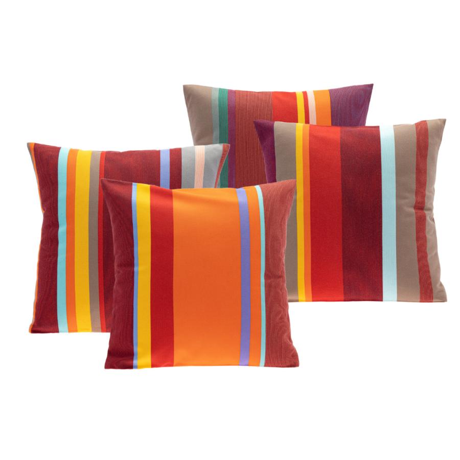 4 Housses de coussins outdoor 40x40 cm - Collioure rouge